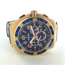 TW STEEL KELLY ROWLAND EDITION WATCH STAINLESS STEEL CHRONOGRAPH WRISTWATCH BLUE