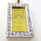 14K SOLID YELLOW GOLD CREDIT SUISSE 1 GRAM GOLD BAR 999.9 PENDANT 32 DIAMONDS