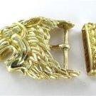 DAVID WEBB 18K SOLID YELLOW GOLD VINTAGE LION BELT BUCKLE 62.0 GRAMS FINE JEWEL