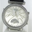 KORLOFF VOYAGEUR WATCH REVERSIBLE DIAMONDS BEZEL STEEL ALLIGATOR LEATHER VOYAGER