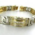 14KT SOLID YELLOW WHITE GOLD BANGLE BRACELET 368 GENUINE DIAMONDS 7.50 CARAT