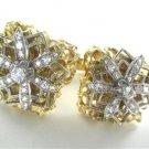 14K YELLOW GOLD CUFFLINKS 38 GENUINE DIAMONDS 1.15 CARAT VINTAGE 33.2 GRAM JEWEL