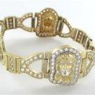 10KT YELLOW GOLD BANGLE BRACELET JESUS PRAYER RELIGIOUS 33.9 GRAMS NO SCRAP