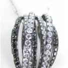 SHIMANSKY DESIGNER PENDANT BLACK DIAMONDS 18KT WHITE GOLD NECKLACE DESIGNER