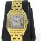 18K YELLOW GOLD CARTIER PANTHER PANTHERE WATCH LARGE 29MM ROMAN DIAL DATE SWISS