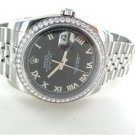 ROLEX WATCH 116244 GENTS DIAMOND BEZEL 36MM DATE STAINLESS STEEL WRISTWATCH BOX