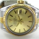 ROLEX 18KT YELLOW GOLD & STAINLESS STEEL LADIES WATCH  6917 WOMAN + CERTICATE