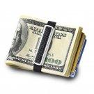 THE GRAND BAND MONEY CLIP GB7000SW BLACK Medium Stainless Steel Money Band w/Bla