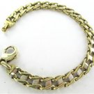 14K YELLOW GOLD BRACELET LINKS BAR 34.9 GRAMS FINE JEWELRY ITALY SOLID NO SCRAP