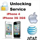AT&T IMEI iPhone 3G/3GS/4/4S/5 Factory Unlock