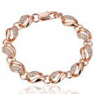18KGP B021 18K Gold Plated Bracelet Health Jewelry Nickel Free K Golden Plating Platinum Rhinestone