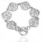 18KGP B024 Flower 18K plated,plating platinum Bracelet,nickel free,Rhinestone,zicon,crystal