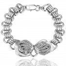 18KGP B009 18K plated,plating platinum Bracelet,nickel free,Rhinestone,zicon,crystal
