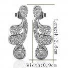 18KGP E239 18K Platinum Plated Earrings Nickel Free K Golden Jewelry Plating Platinum