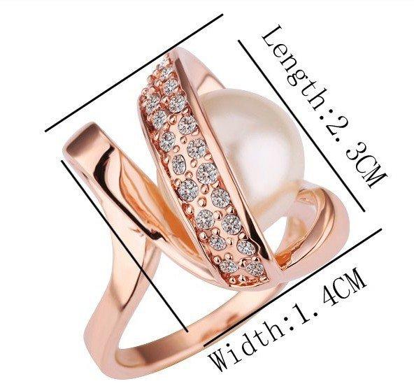 18KGP R160 18K Gold Plated Ring Nickel Free K Golden Plating Rize size6/7/8