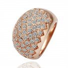 18KGP R071 Sawtooth 18K Gold Plated Ring Nickel Free  Ring size /8