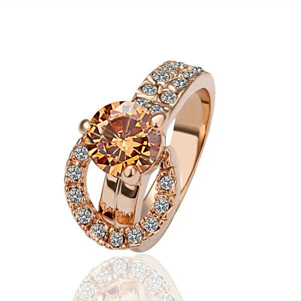 18KGP R002 Freeshipping, Copper with 18K gold plated rings nickel free size 8