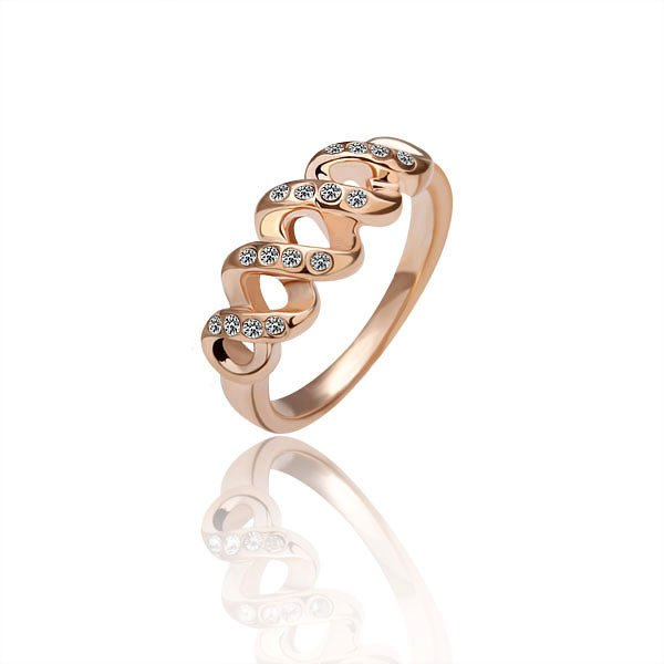 18KGP R010 18K Gold Plated Ring Nickel Free Ring size 8