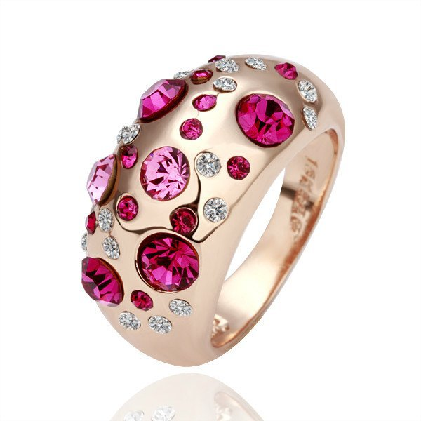 18KGP R077 18K Gold Plated Ring Jewelry Nickel Free Ring size6/7/ 8