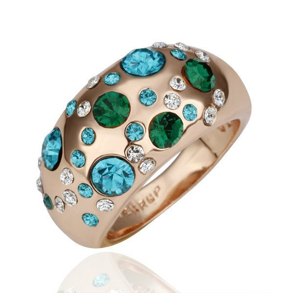 18KGP R117 18K Gold Plated Ring,Nickel Free, Ring size 8