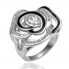 18KGP R066 White gold Rose 18K Platinum Plated rings,nickel free, Ring size6/7/ 8