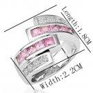18KGP R198 18K Platinum Plated Ring Nickel Free K Golden Plating Platinum,Ring US-size 8