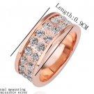 18KGP R181 18K Platinum Plated Ring Nickel Free  RhinestoneRing US-size 8