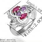 18KGP R210 18K Platinum Plated Ring Nickel Free  Rhinestone ,Ring US-size 8