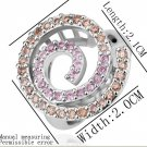 18KGP R214 18K Platinum Plated Ring Nickel Free K Golden Plating  Rhinestone,Ring US-size 8