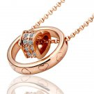 18KGP N028 N462 18K Gold Plated Necklace Nickel Free Rhinestone Crystal Pendant SWA- Elements