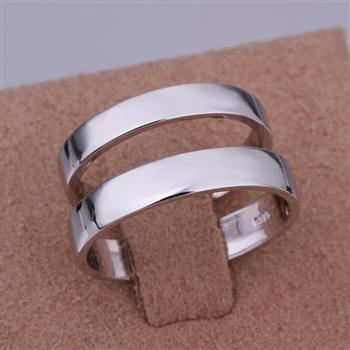 ER06 Platinum Plated Set,gemstone silver Rings,Rings Size Female7-16,Male13-24