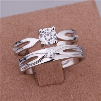 ER07 Platinum Plated Set,gemstone silver Rings,Rings Size Female7-16,Male13-24