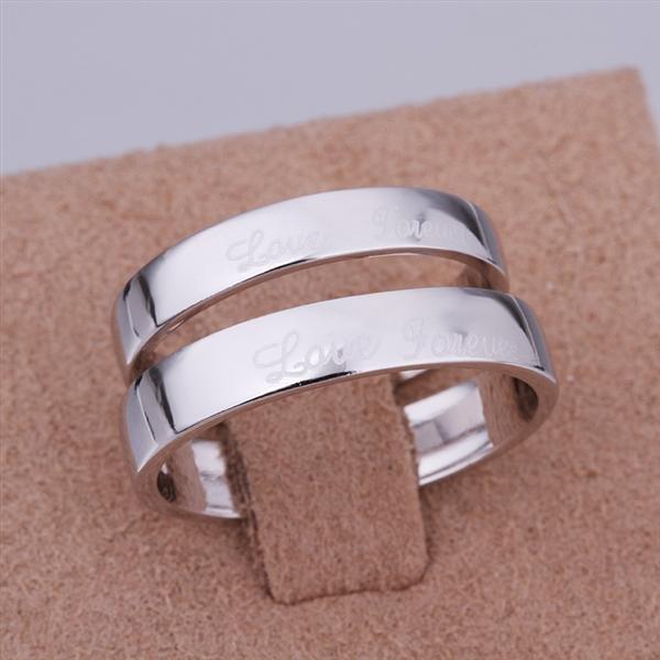 ER015 Platinum Plated Set,gemstone silver Rings,Rings Size Female7-16,Male13-24