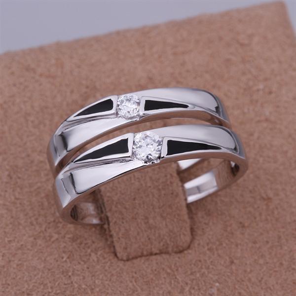 ER022 Platinum Plated Set,gemstone silver Rings,Rings Size Female7-16,Male13-24