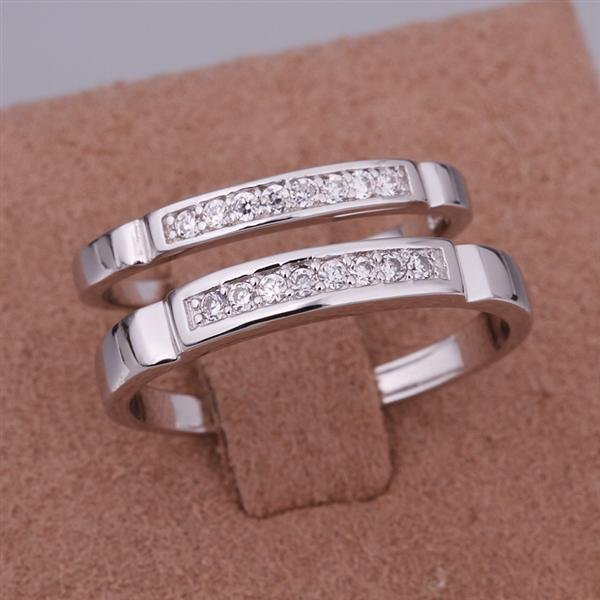 ER023 Platinum Plated Set,gemstone silver Rings,Rings Size Female7-16,Male13-24