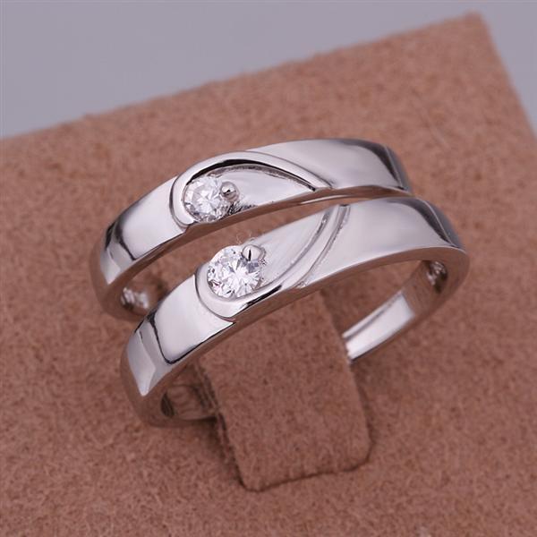 ER025 Platinum Plated Set,gemstone silver Rings,Rings Size Female7-16,Male13-24