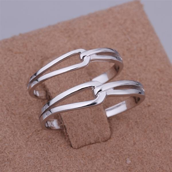 ER029 Platinum Plated Set,gemstone silver Rings,Rings Size Female7-16,Male13-24