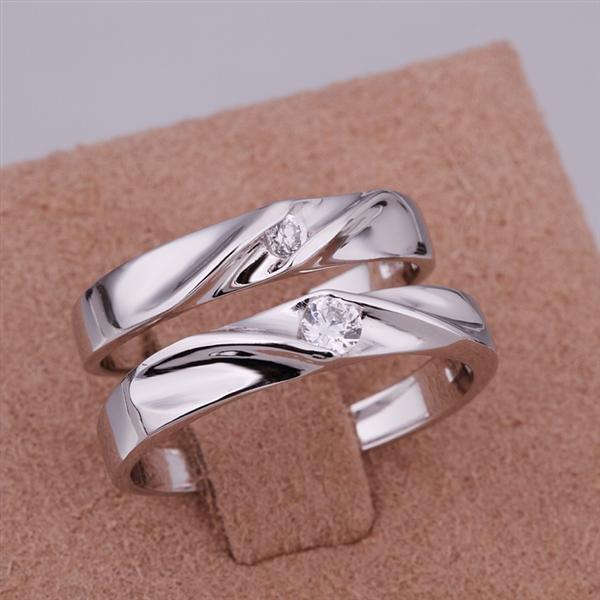ER030 Platinum Plated Set,gemstone silver Rings,Rings Size Female7-16,Male13-24