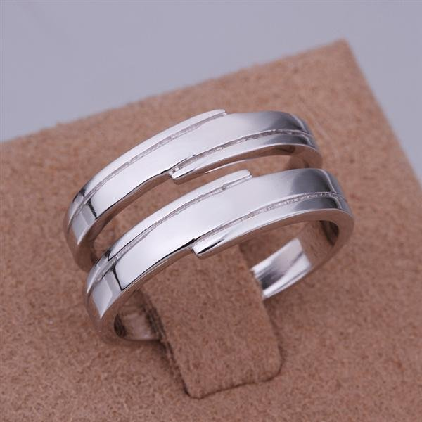 ER031 Platinum Plated Set,gemstone silver Rings,Rings Size Female7-16,Male13-24