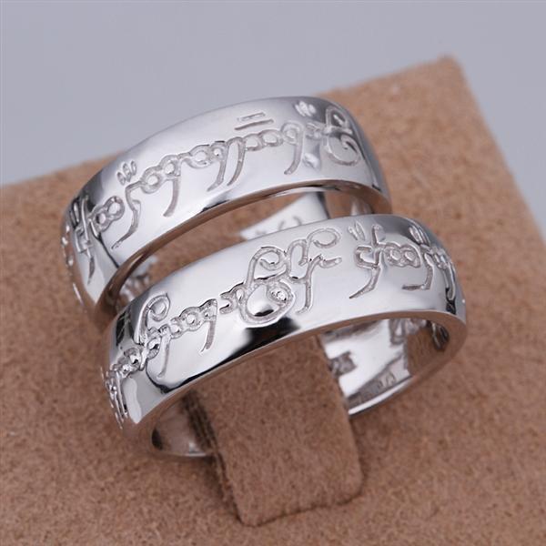 ER036 Platinum Plated Set,gemstone silver Rings,Rings Size Female7-16,Male13-24