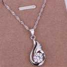 PD04 Platinum Plated Silver Necklace,necklace length approximately18~20 inches
