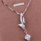 PD07 Platinum Plated Silver Necklace,necklace length approximately18~20 inches