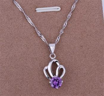 PD08 Platinum Plated Silver Necklace,necklace length approximately18~20 inches