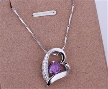 PD032 Platinum Plated Silver Necklace,necklace length approximately18~20 inches
