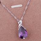 PD033 Platinum Plated Silver Necklace,necklace length approximately18~20 inches