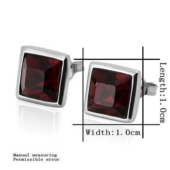18KGP E245 Red 18K Platinum Plated Earrings Nickel Free Jewelry Plating Platinum