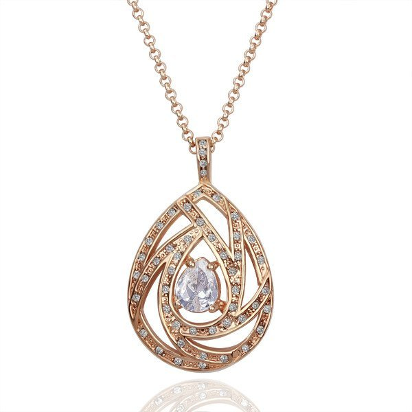 18KGP N121 Healthy Egg Jewelry 18K Gold Plated Plating Platinum Necklace Nickel Free