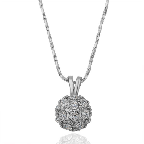 18KGP N163 Fashion jewelry,18K plated,plating platinum necklace,nickel free