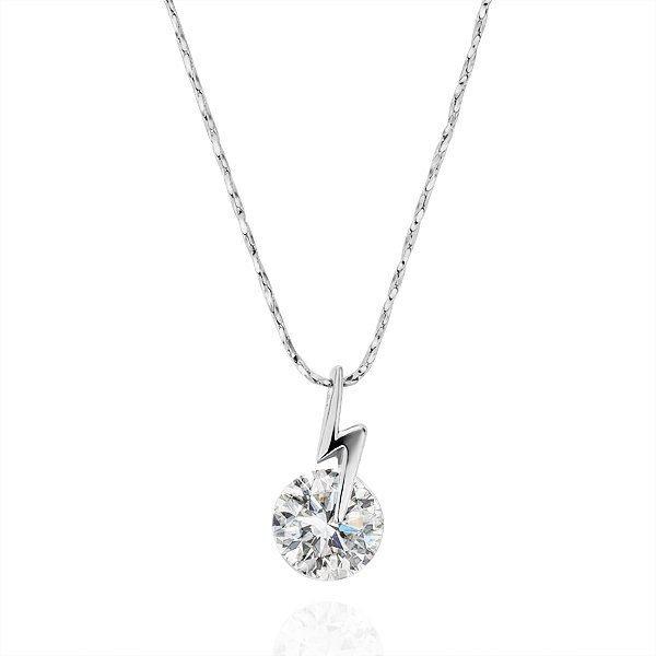 18KGP N199 18K Platinum Plated Pendant Necklace Health Jewelry Nickel Free