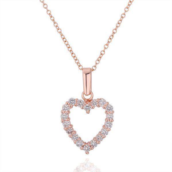 18KGP N221 Heart 18K Gold Plated Pendant Necklace Health Jewelry Nickel Free